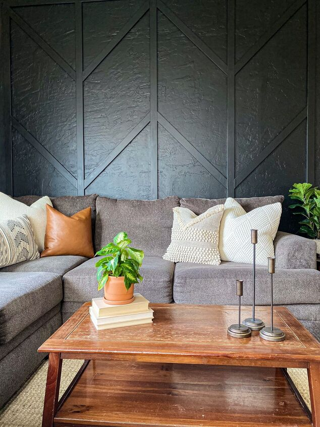 s 15 new wall ideas for the fearless diyer, Her herringbone accent wall