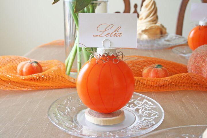 unique diy pumpkin place card holders
