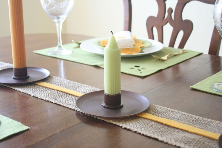 easy diy tall candle holder for fall