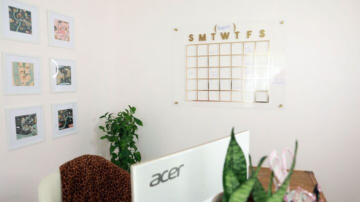 s 14 diy designer ideas you have to try, A beautiful floating acrylic calendar