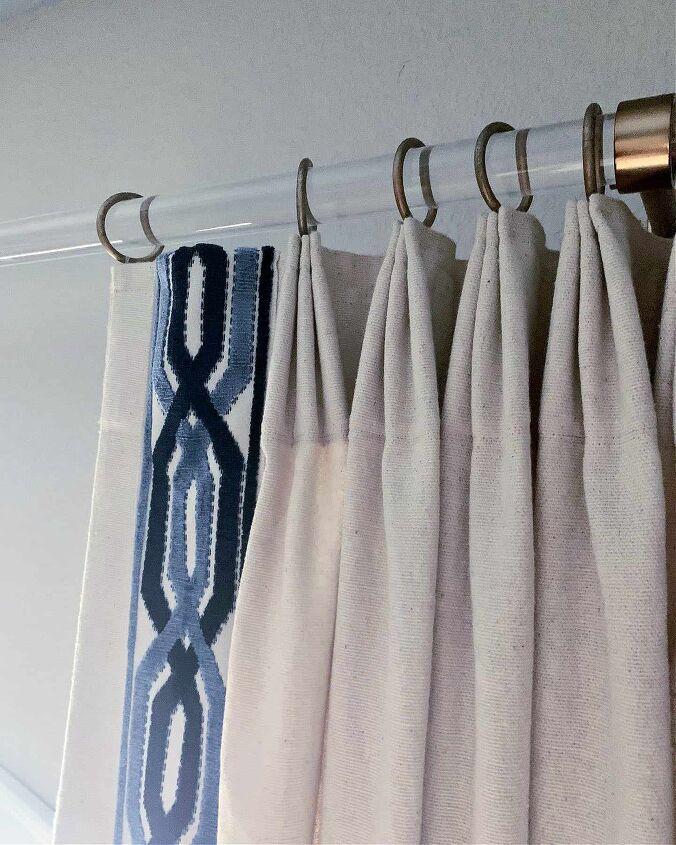 drop cloth curtain diy pinch pleat