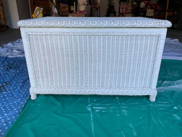 wicker trunk magic with super friends rust oleum and frogtape, What to do