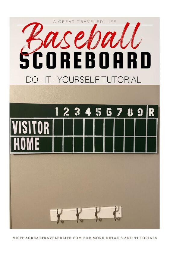 diy faux baseball scoreboard