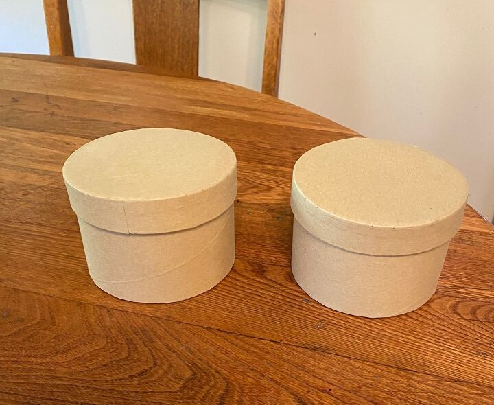 dollar tree round craft box pumpkins