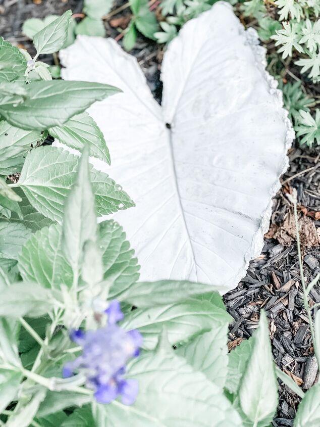 diy cement leaves