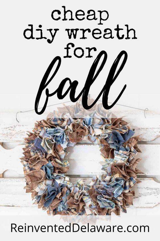 cheap wreath for fall