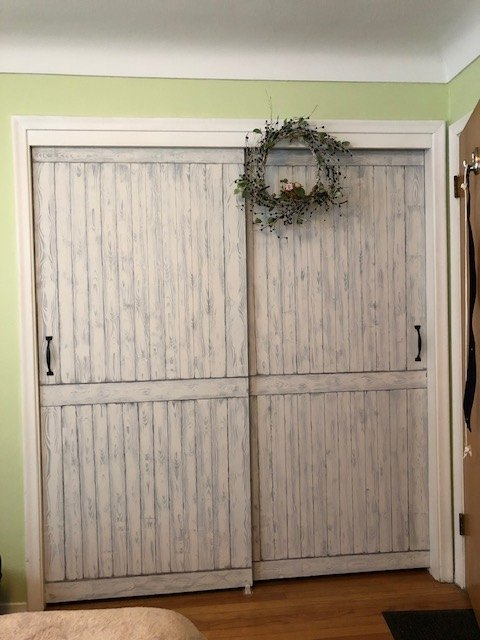 s 14 tips and tricks that ll help you get the closet of your dreams, Paint stunning faux barn doors