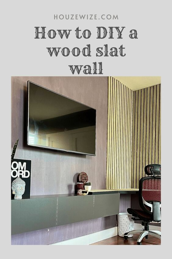 how to build a diy wood slat wall