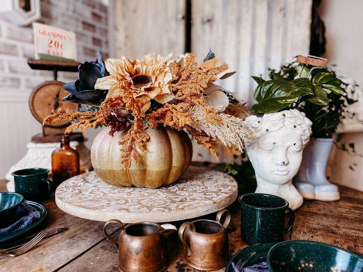 s wrap tape around a pumpkin for fall decor that will turn heads, Beautiful Fall Pumpkin Vase