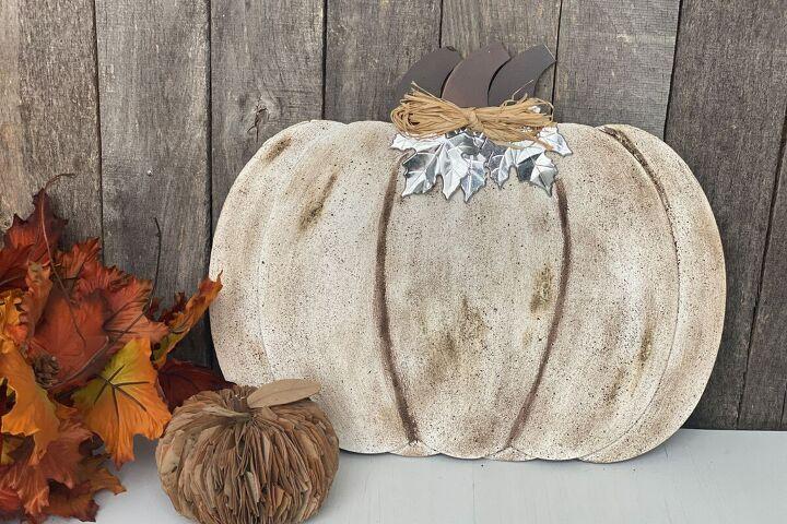 dollar tree pumpkin upgrade