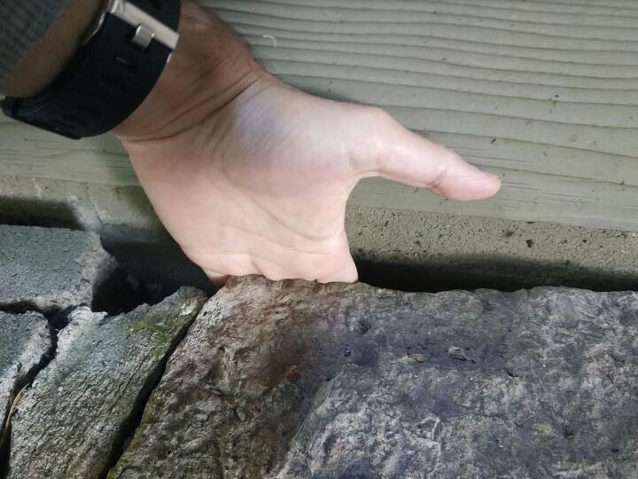 q do i need to fill this gap between the foundation and the the patio
