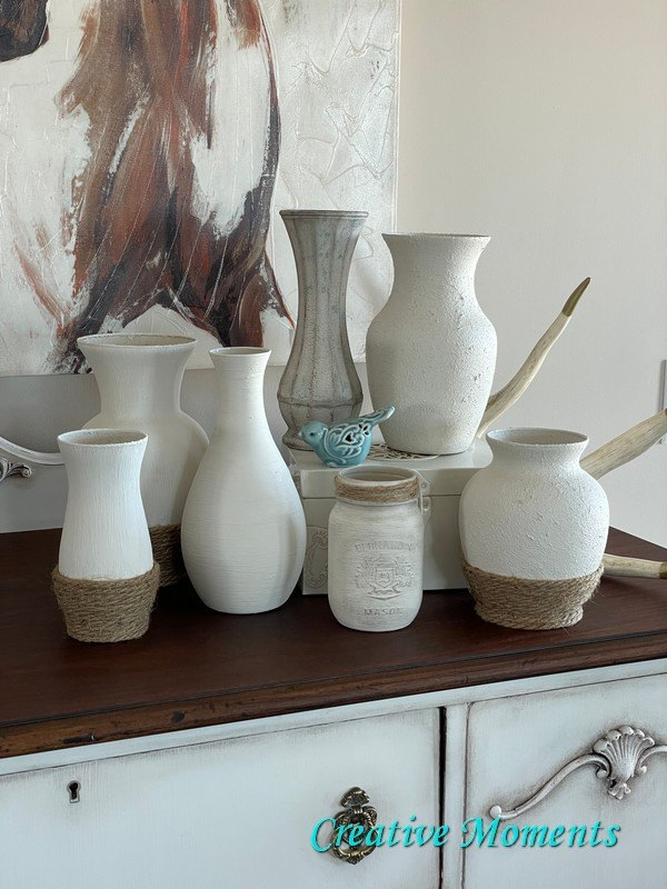 s 18 decor ideas that prove that rope is the top trend for fall, These farmhouse style textured vases