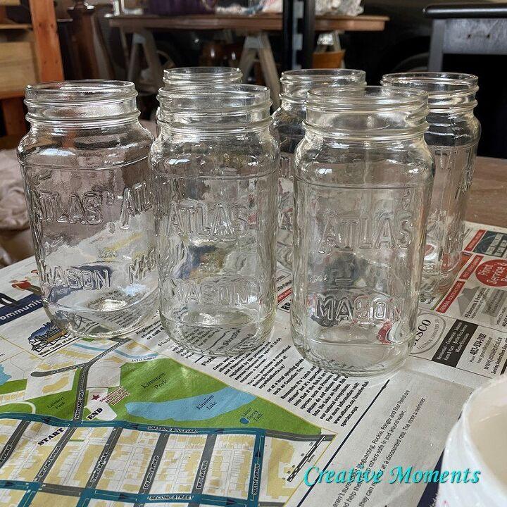 fall vases made from mason jars