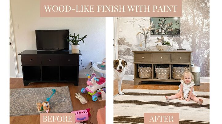 diy wood like finish with furniture paint