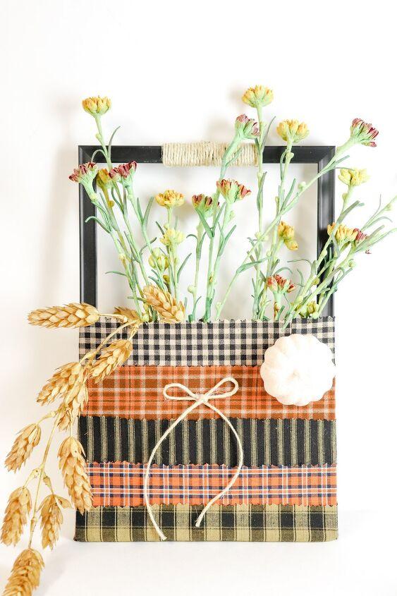 upcycled picture frame flower pocket