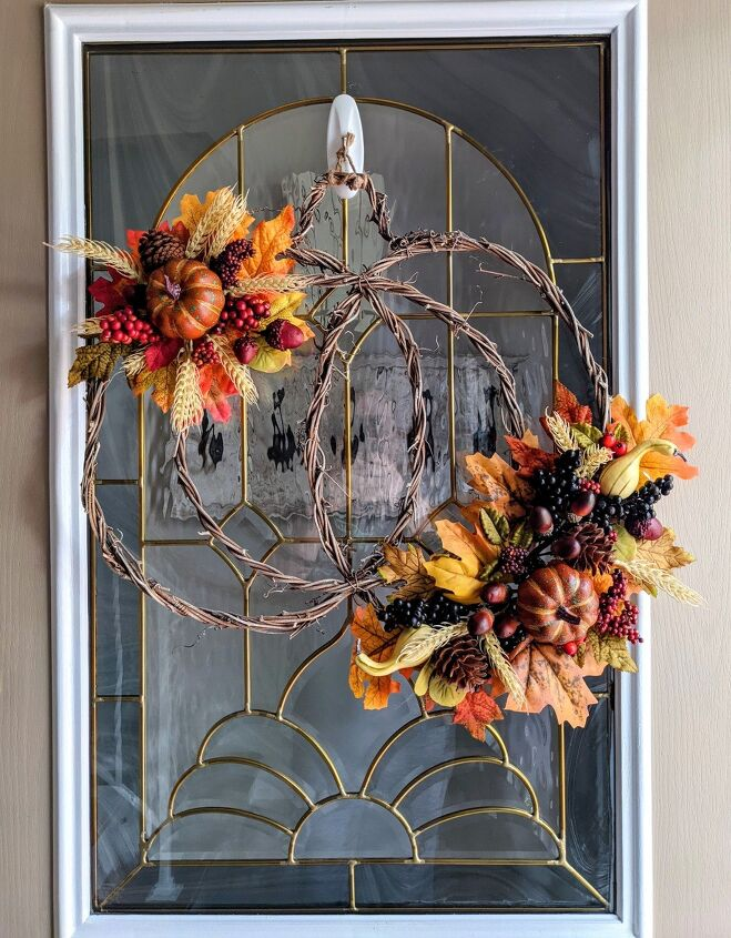 fall pumpkin wreath update, Finished Project
