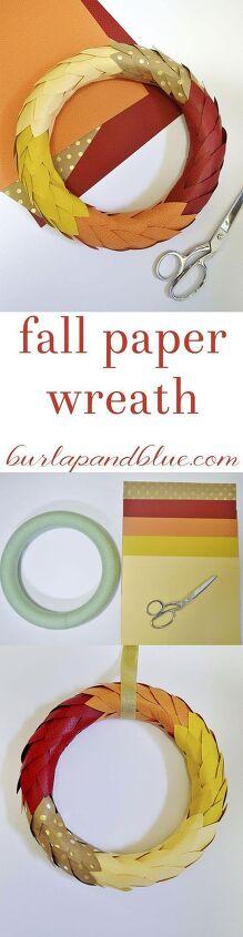 fall paper leaf wreath a tutorial