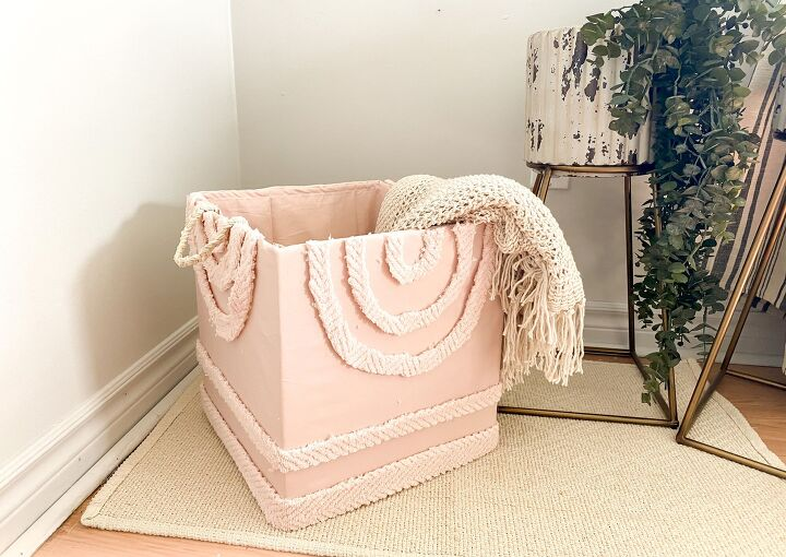s 16 of the best ways to repurpose the stuff in your recycling bin, This stylish cardboard storage basket