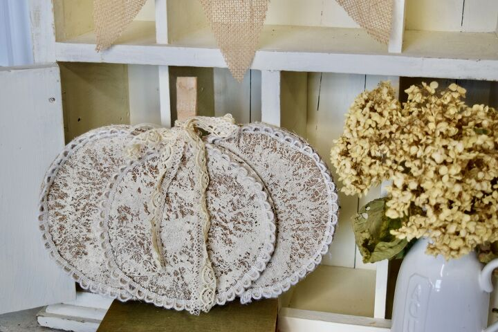s 12 ways to turn household items into gorgeous fall pumpkin decor, Her farmhouse style coconut liner pumpkin