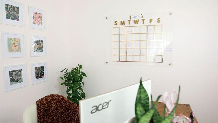 s the cutest calendar idea that doubles as west elm inspired decor, Floating Acrylic Calendar