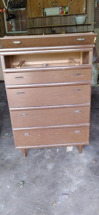 forest dresser refinish project, before photo