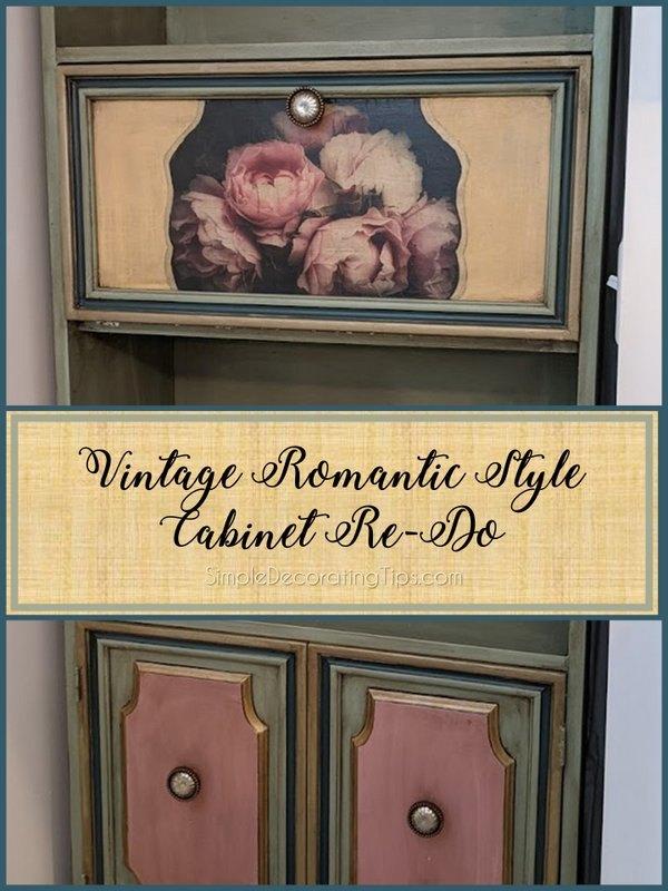 vintage romantic style cabinet re do