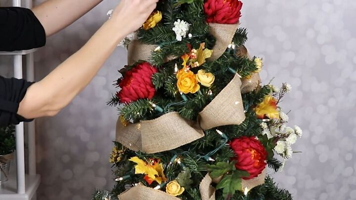 s 13 diy designer ideas you have to try this fall, Her beautiful seasonal tree