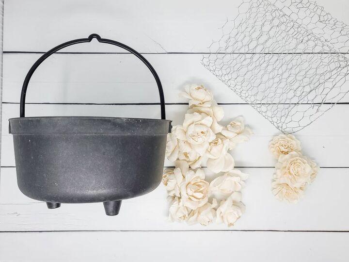 halloween flower cauldron, What You ll Need
