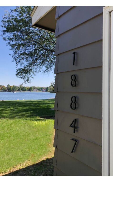 easy modern house number update, Numbers installed into the siding