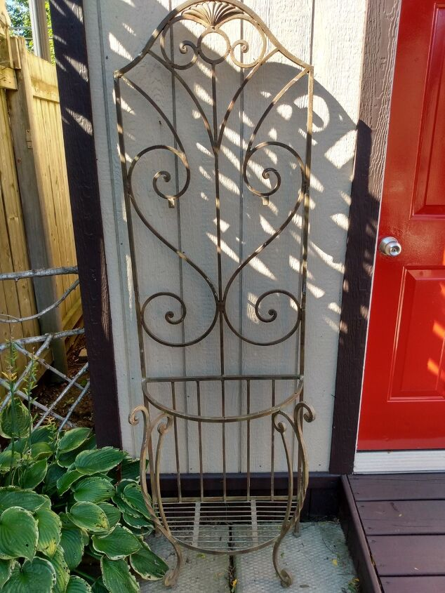 wrought iron stand makeover
