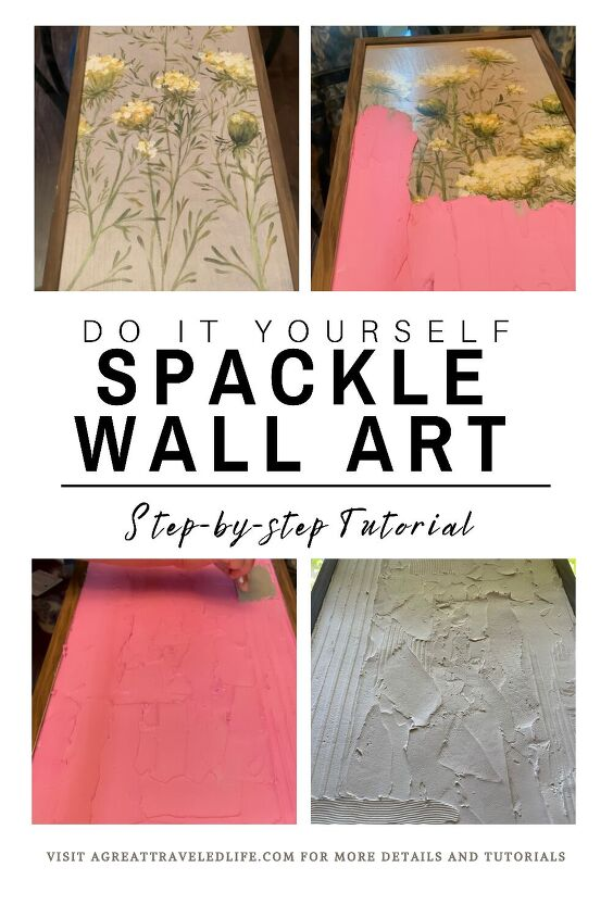 diy abstract spackle wall art