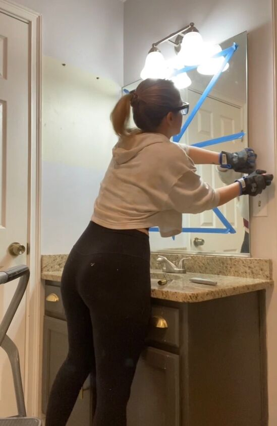 faux tile with a paint pen arches budget bathroom makeover part 1