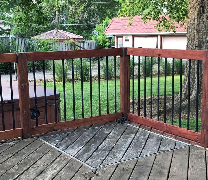 deck update a new drinkrail for my deck