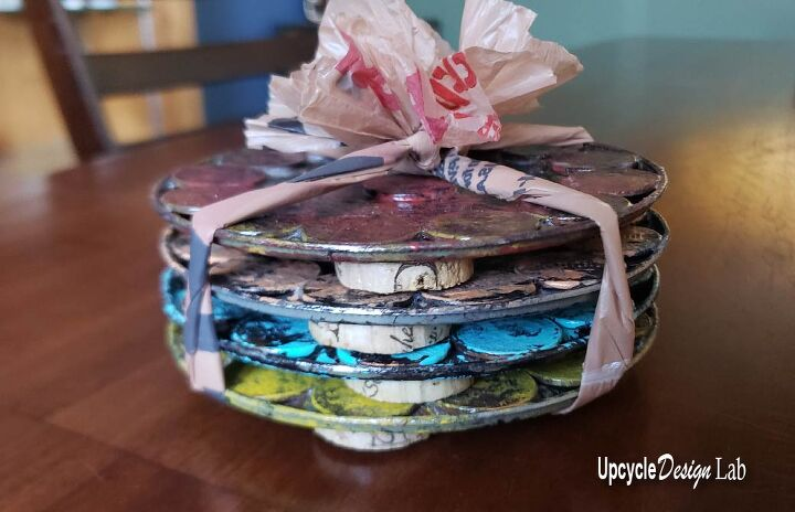 diy coasters recycled tin cans