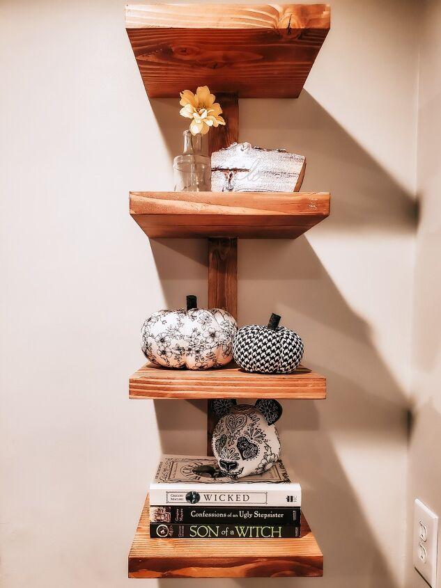 chunky modern boho wall shelf