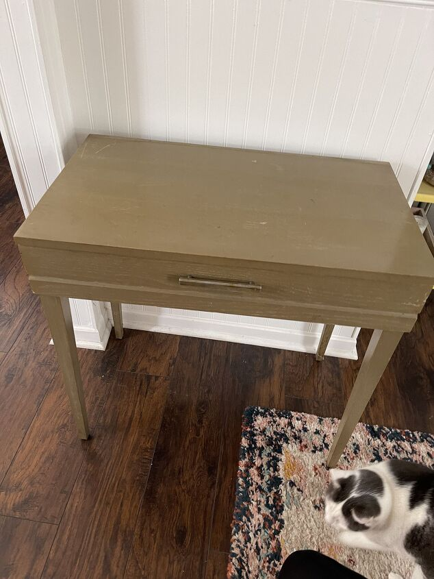 stenciled wood paint combo table