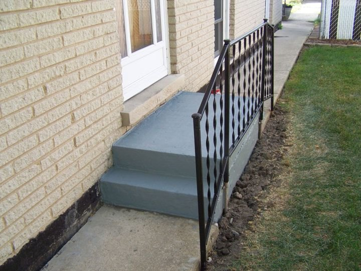 patching resurfacing painting entryway and steps