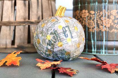 Decoupage Paper Pumpkin