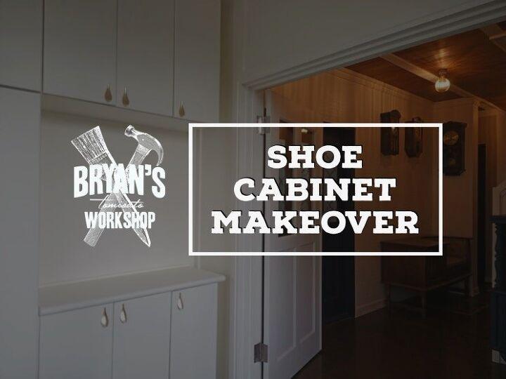 shoe cabinet makeover