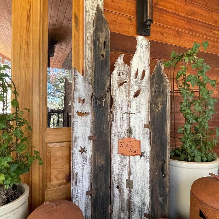 upcycled wood ghosts