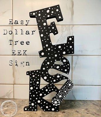 halloween supercalifreaking easy dollar tree eek sign