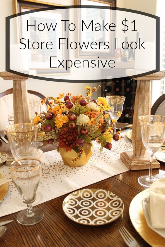 how to make 1 store flowers look expensive