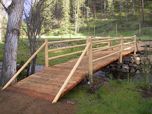 caution before building bridge s on a small stream on your property, landscape, outdoor living, ponds water features