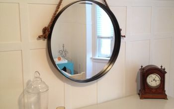 diy restoration hardware knock off iron rope mirror, diy, home decor, how to