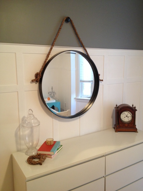 diy restoration hardware knock off iron rope mirror, diy, home decor, how to