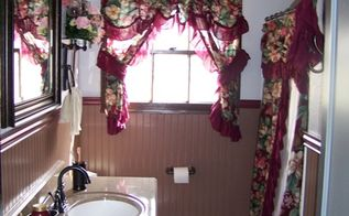 bathroom makeover turned into major bathroom remodel, bathroom ideas, diy, home decor, The finished project plenty of lighting comes through the windows and really makes the whole room pop Picking the right color scheme was probbally the hardest choice to make but I think it was a nice pick