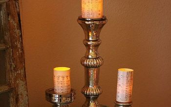 1 minute flameless candle pillars, crafts, repurposing upcycling