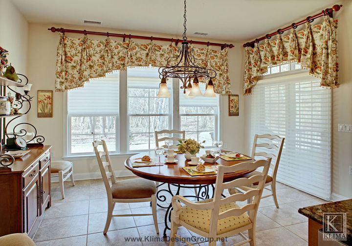 french country breakfast room, home decor, kitchen design, French country house styled breakfast room is the owner s favorite spot for reading a newspaper in the morning Its fabrics are light bright and pretty
