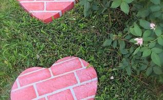 fun homemade stepping stones, crafts, outdoor living, Painted hear stepping stone