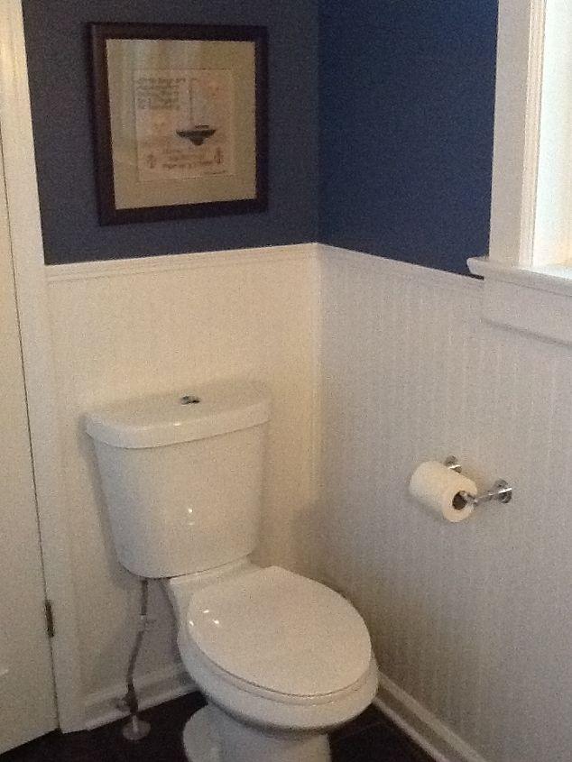 Water saving dual-flush toilet.